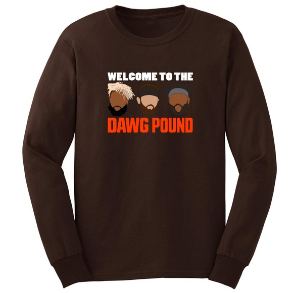 """Cleveland Browns /""""Welcome to the Dawg Pound/"""" jersey Hooded SWEATSHIRT HOODIE"""